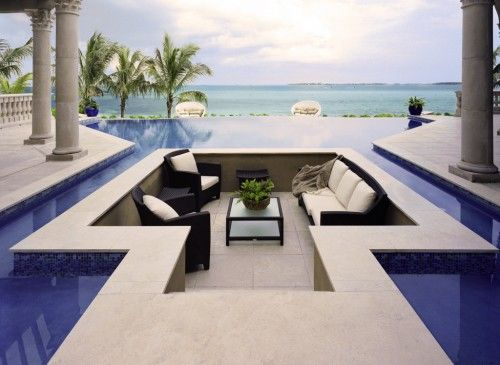 LOVE this pool/outdoor living design!