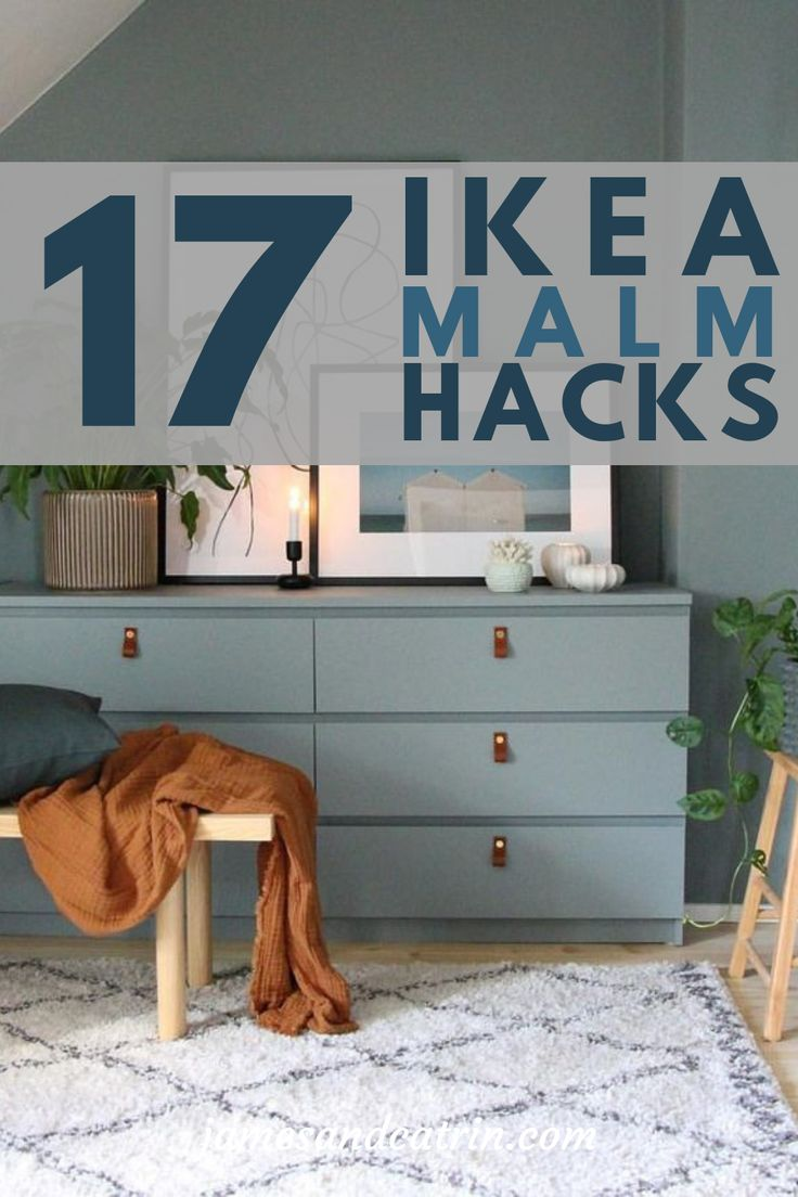 The Ikea Malm dresser is a very popular piece of furniture and lends itself perfectly to being hacked. You can create so many variations with Ikea hacks that you will definitely find something to fit your decor. The Ikea Malm is so versatile and using a bit of DIY and a hack can help you create something amazing. #ikeahacks #malm #ideas #inspiration #homedecor