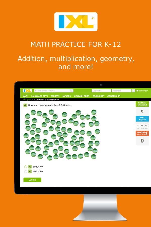 math problems from pre k to precalculus practice 10 free problems a day about ixl. Black Bedroom Furniture Sets. Home Design Ideas