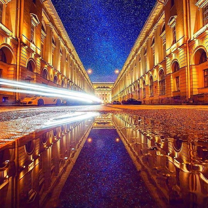 Улица Зодчего Росси (Театральная улица).    Автор: Михаил Зефиров (Zefirovm).