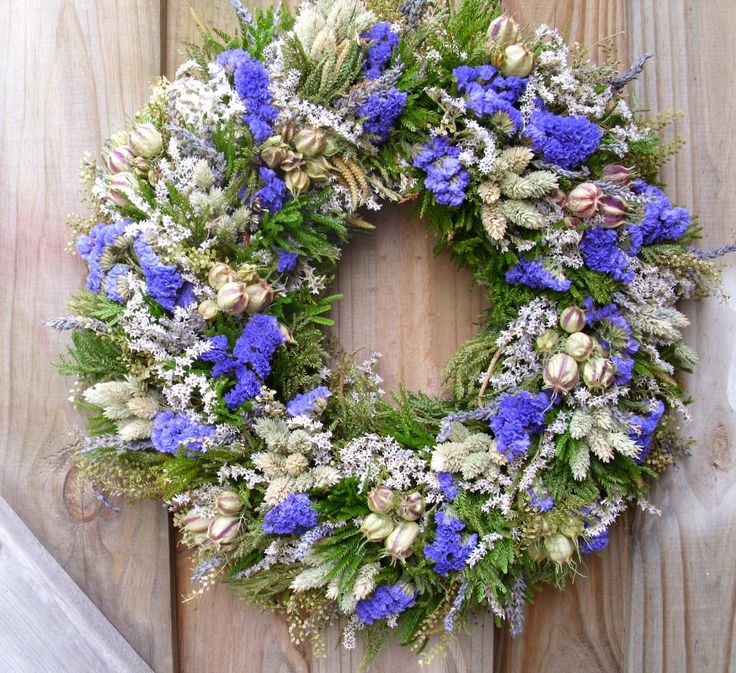 Dried Flower Wreath by NaturDesign on Etsy https://www.etsy.com/listing/97867452/dried-flower-wreath