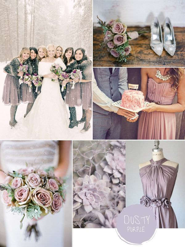 Purple Hues for Winter Wedding Color Ideas and Bridesmaid Dresses 2014 #tulleandchantilly #purpleweddingideas #weddingcolors