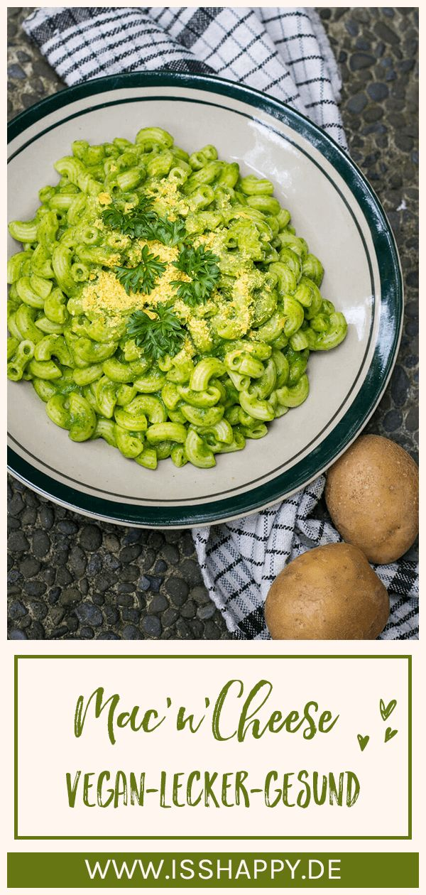 Grüne vegane Mac and Cheese – glutenfrei & ohne Fett