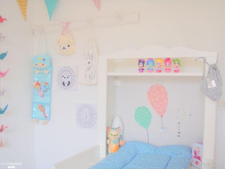 Une chambre de b b avec des tons pastel du vintage et for Accessoire chambre bebe