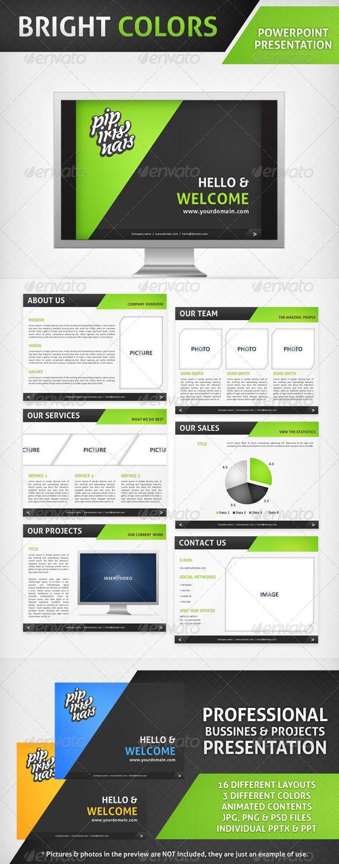 56 best powerpoint images on pinterest powerpoint presentation bright colors powerpoint presentation graphicriver toneelgroepblik Images