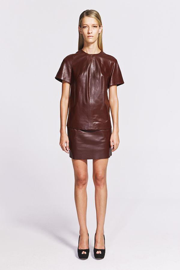 Joan Leather Top Deri Üst Bluz  https://www.jibeoh.com/product/listing/45/joan_bluz