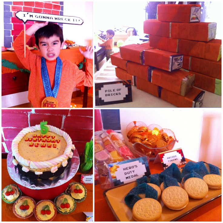 Wreck-It Ralph party printables - basic printables perfect for Wreck-It Ralph themed birthday party. $20.00, via Etsy.