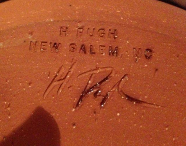 H Pugh Pottery New Salem Potte...