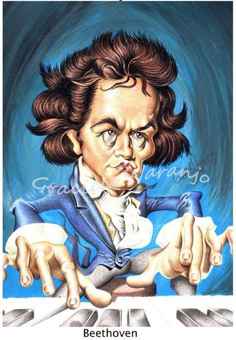 Ludwig Van Beethoven Técnica: aguada y lápices de color