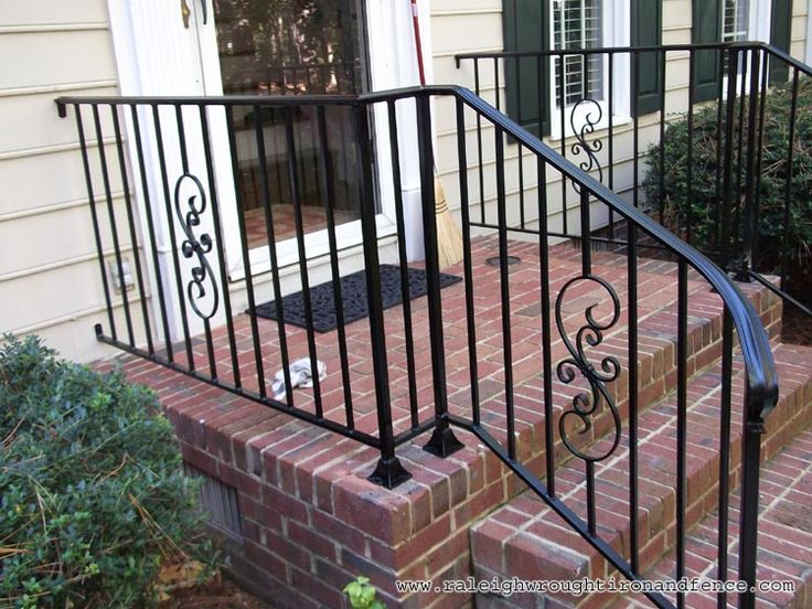rod iron railing for outside steps - Google Search