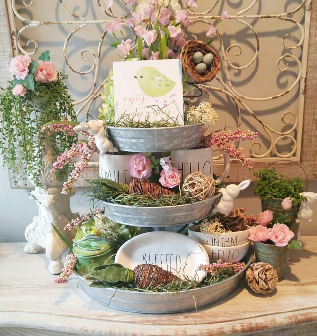 18 Spring Decor Ideas: 17 Best Ideas About 3 Tier Stand On Pinterest