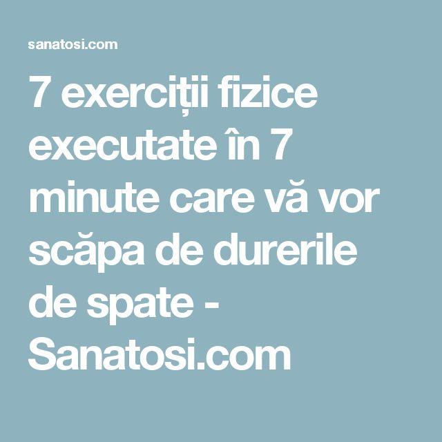 7 exerciții fizice executate în 7 minute care vă vor scăpa de durerile de spate - Sanatosi.com