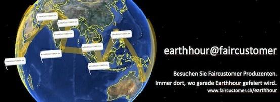 Zur Earthhour werden weltweit um 20.30 symbolisch die Lichter gelöscht. Wir haben in allen Zeitzonen nach Faircustomer Produzenten gesucht. Reisen Sie mit zu den vielen spannenden Projekten, die auf ihre Weise einen Beitrag für eine nachhaltigere Welt leisten. http://www.faircustomer.ch/earthhour