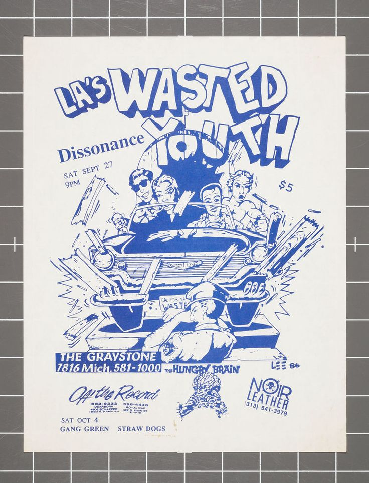 254 Best Images About Wasted Youth Flyers On Pinterest