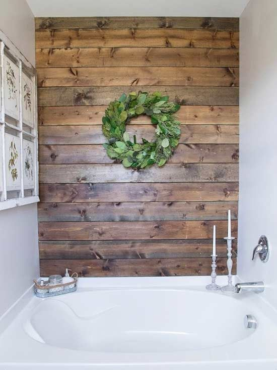 6 diy ideas to upgrade your ugly bathroom - Painted Wood Bathroom Interior