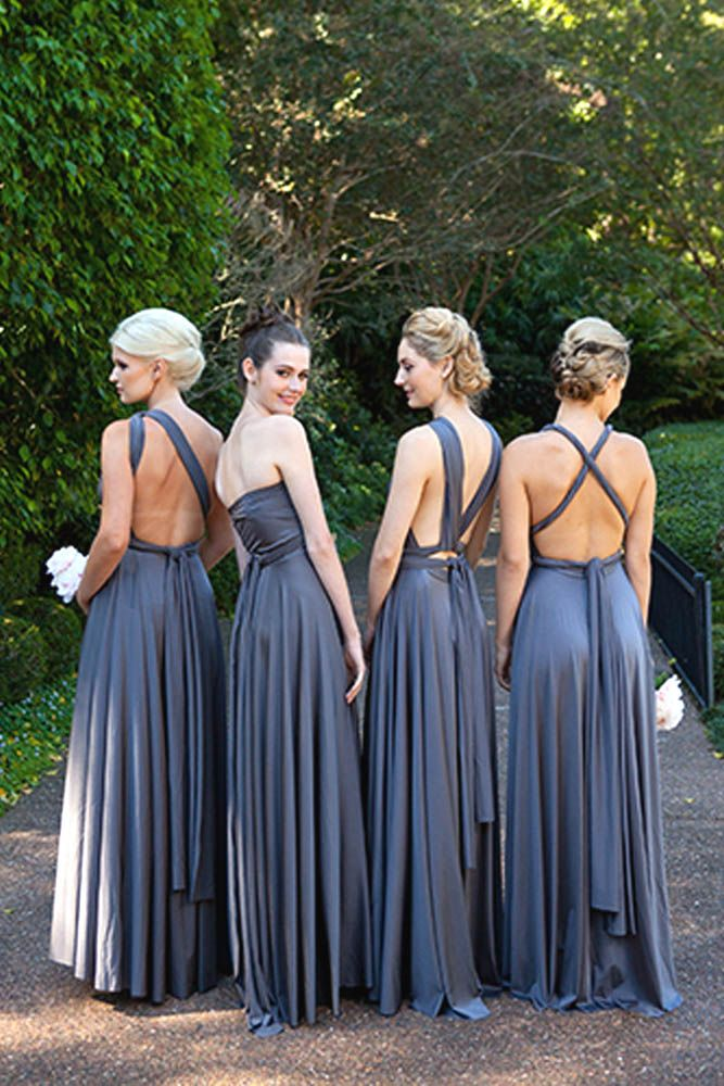Top Brands For Convertible Bridesmaid Dresses ❤ See more: http://www.weddingforward.com/convertible-bridesmaid-dresses/ #weddings