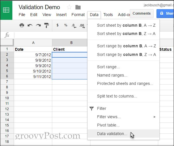 How To Add A Drop Down List Of Options In Google Docs Ads Google Docs Spreadsheet