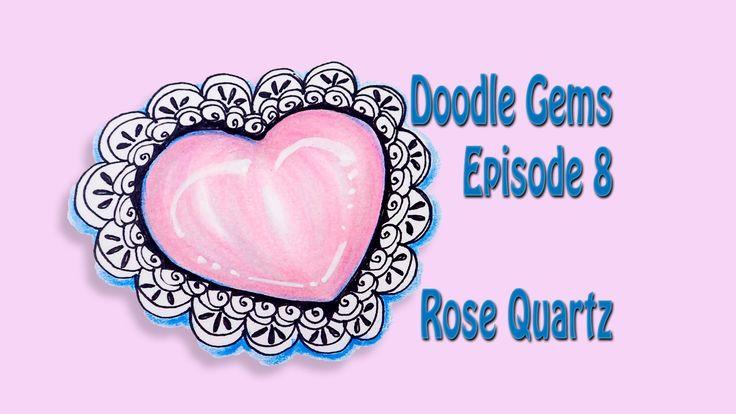 How to Draw Doodle Gems Episode 8: Rose Quartz