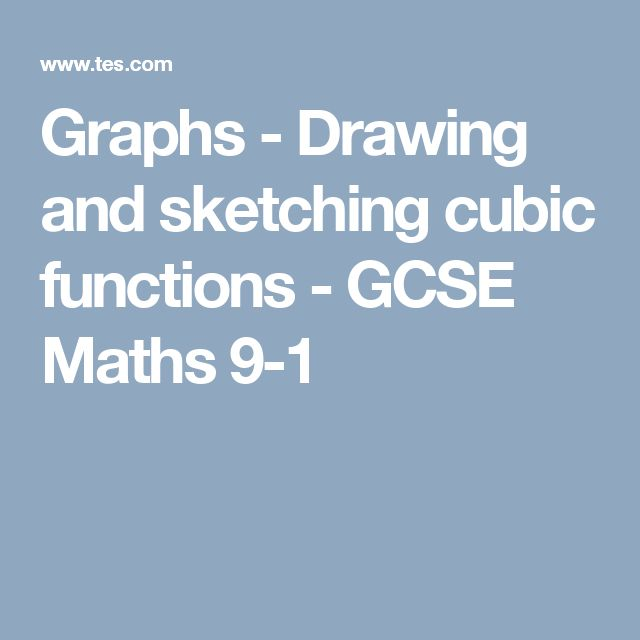Graphs - Drawing and sketching cubic functions - GCSE Maths 9-1