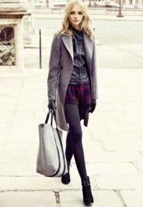 Уличный стиль: шорты осенью