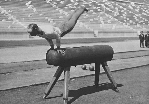 Carl Schuhman 1896 athene gymnastique