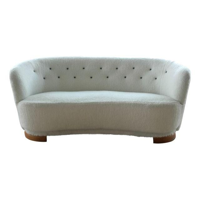 Image of Danish Mid-Century Banana Form Sofa by Slagelse