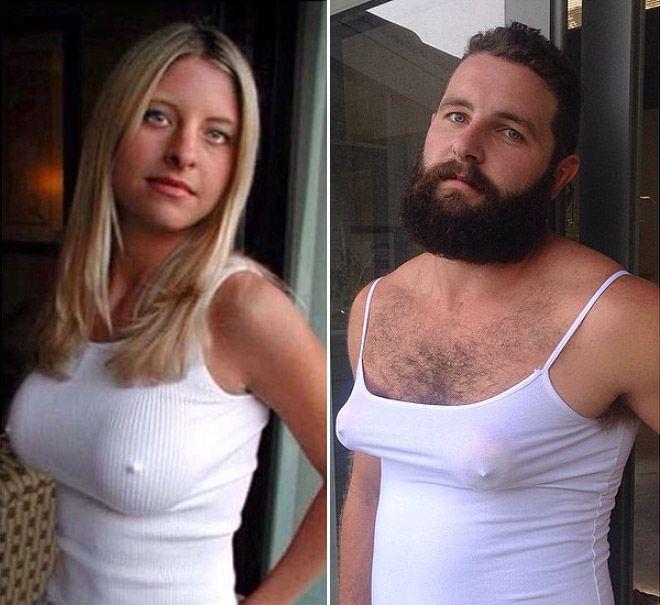 Australian Jarrod Allen is recreating profile pictures of girls he comes across on Tinder App.