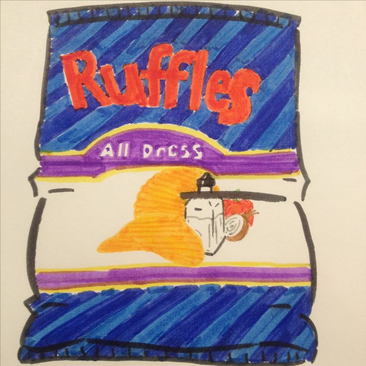 Ruffles all dressed chips drawing by Dhalie Fortin
