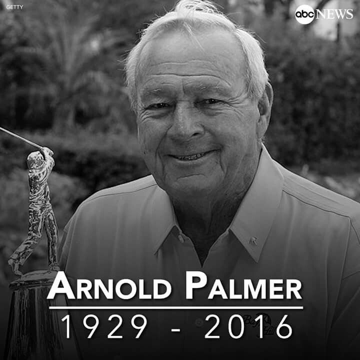 Golfing legend Arnold Palmer has died aged 87 after complications from heart problems. RIP.