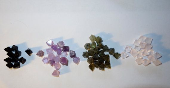 AMETHYST Small Octahedrons by CrystalYantra on Etsy