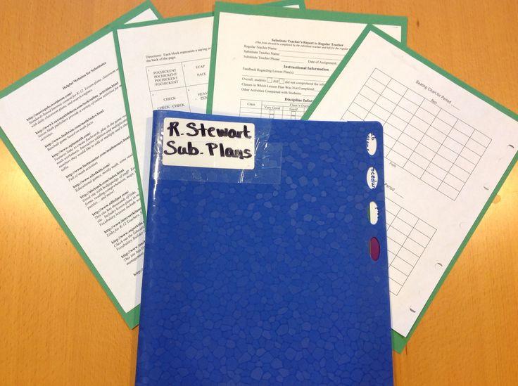 Your Substitute Teacher Folder Checklist