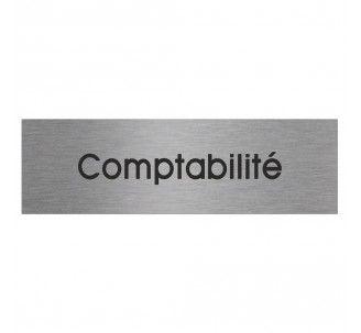Plaque de porte alu gravé Comptabilité : votre signalétique intérieure par Toutelasignaletique.com