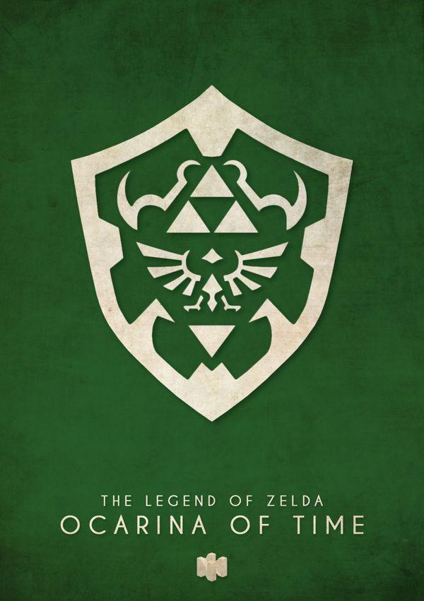 The Legend of Zelda: Ocarina of Time - Nintendo 64 Minimalist Art Print by…