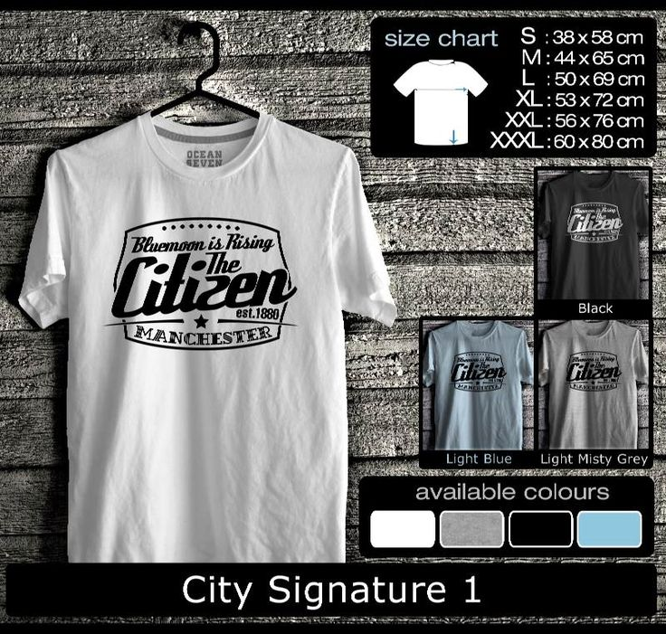 Kaos Manchester City FootBall Club | Kaos Guvnors dan Citizens 1