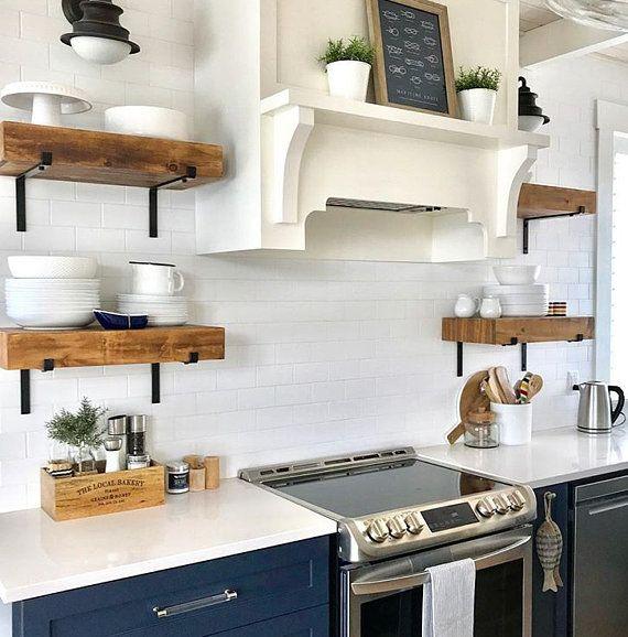 Open Shelving Brackets Iron Shelf Bracket Black Steel And Etsy Kitchen Remodel Small Kitchen Design Small Kitchen Remodel Countertops