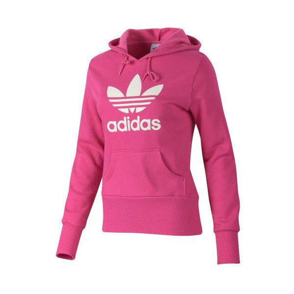 adidas - Trefoil Hoodie - Long Sleeve Tops (62 BRL) ❤ liked on Polyvore featuring tops, hoodies, sweatshirts, jackets, sweaters, shirts, long-sleeve shirt, long sleeve shirts, adidas hoodies and long sleeve hoodie shirt