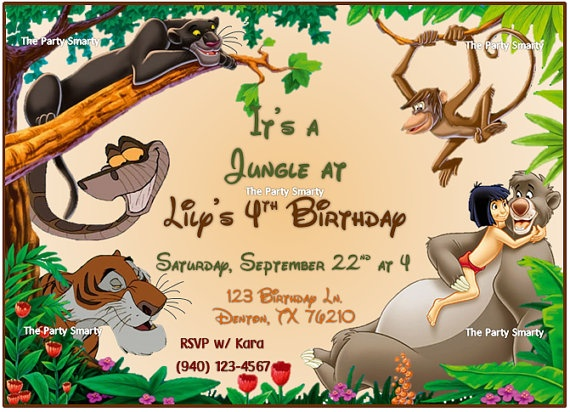 Jungle Book Birthday Invitation By ThePartySmarty On Etsy, $10.00