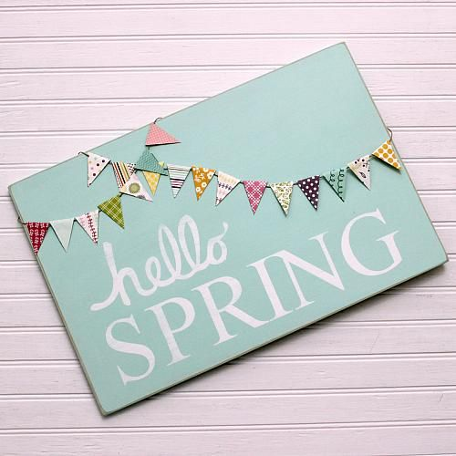 Create this project with Americana Decor® Chalky Finish — Sign in for spring on a wall accent made using Americana Decor® Chalky Finish.