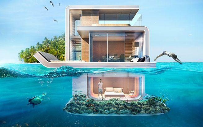 Floating Seahorse ist ein einzigartiges Unterwasser-Projekt, das es so noch nie gegeben hat. Die Luxushotels in Dubai bieten beeindruckende Aussicht auf die Meerlandschaft.
