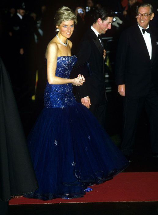 Prince Charles and Diana attending the 'Cinderella' opera in 1987