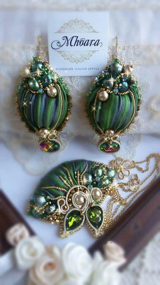 Shibori silk earrings 'Bahira' MHOARA Handmade Italian Jewels