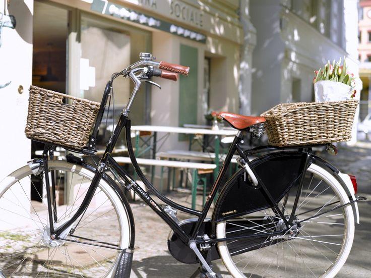 fahrradkorb hinten rattan lookt schwarz braun bei. Black Bedroom Furniture Sets. Home Design Ideas