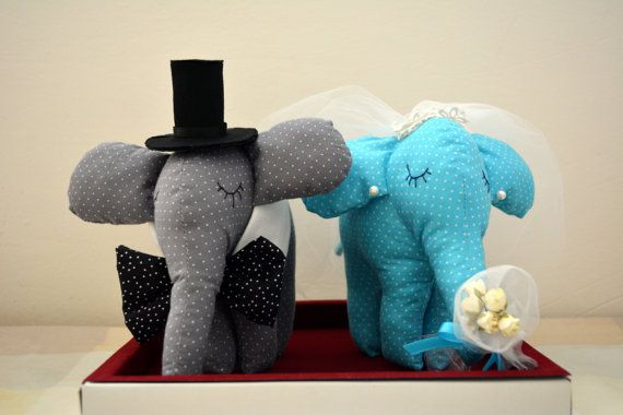 Bride and Groom Elephant Wedding GiftWedding by penhands on Etsy, €43.00