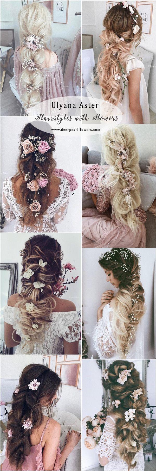 Ulyana Aster Long Wedding Hairstyles with Flowers #weddings #weddingideas #weddnghairstyles #hairstyles   ❤️ http://www.deerpearlflowers.com/ulyana-aster-wedding-hairstyles-2/