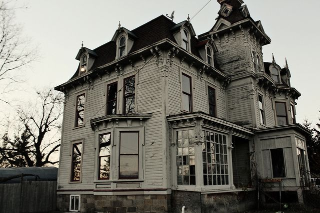 Abandoned old victorian home in Burnside,Michigan built it in 1876, by John Bruce. I love all the nooks and crannies!