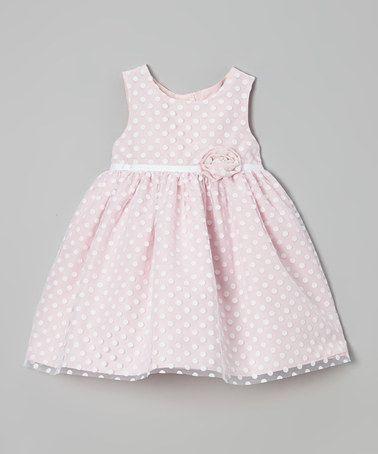 Look at this #zulilyfind! Pink Polka Dot Ruffle Flower Dress - Infant & Toddler by Marmellata #zulilyfinds I love it