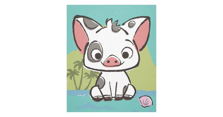 Let us introduce Pua, the pot-bellied pig from Moana. This playful piglet is the beloved pet, sidekick and best friend of the Ocean princess, Moana. Pua is the cutest, cuddliest and fluffiest little pig you will ever see. Kids will love this adorable design featuring Disney's most loveable pig!