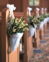 church pew decorations for wedding - Google Search