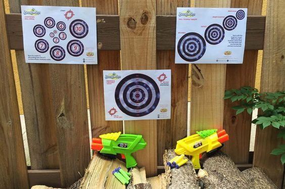 Print out our free skill training dart blaster wall targets, tack them up and work on your marksman skills. | alexbrands.com
