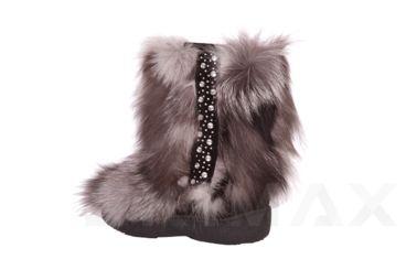 Diavolezza Frost Fox Luxusni zimní boty z pravé kožešiny Diavolezza Luxury winter fur boots Diavolezza